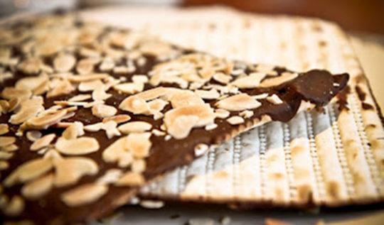 matza com chocolate