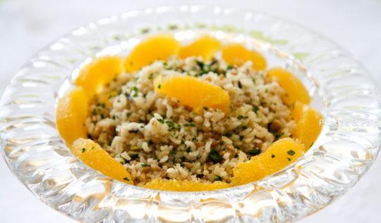 salada de arroz e grãos
