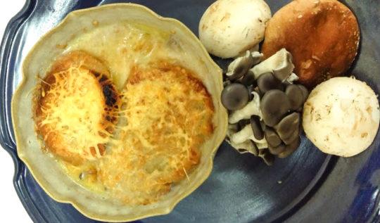 sopa de 3 cogumelos