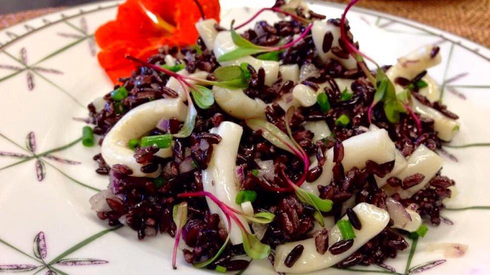 arroz negro de lulas