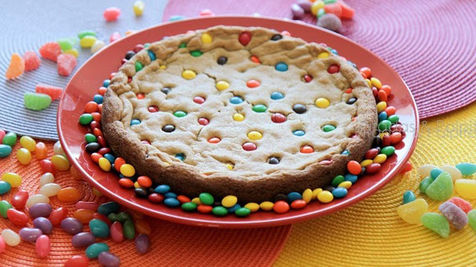 bolo cookie de confete