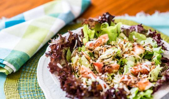 Salada verde de figo