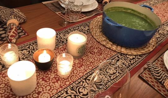 mesa com velas